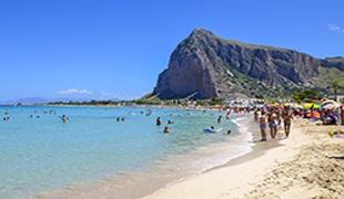 Pláž San Vito Lo Capo, Sicília, Taliansko