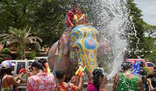Songkran - vodný festival, Thajsko